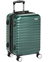 AmazonBasics Premium Hard Side Spinner - 20 Inch Carry On, Green