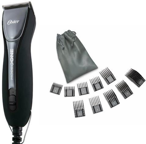 Oster Compact Classic 76 Model One (1) High Performance Silent Running Motor Professional Pro Barber Hair Clipper Assembled in USA Comes Packaged with 10 Come Guides and a Pouch Free. Old-School Classic with Five star Durability, Power, Versatility, Quiet by Oster