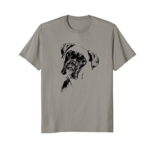 BOXER DOG FACE T-SHIRT - DOG LOVERS BOXER DOG GIFT ()