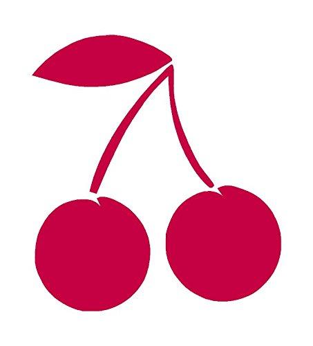 "Cherries Cherry - Vinyl Decal Sticker - 5.75"" x 6.25"" - Red"