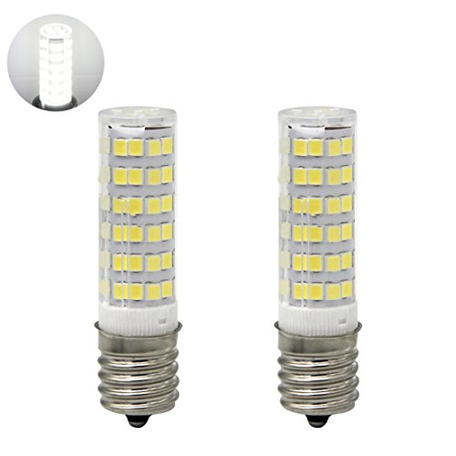 LED Daylight Bulb with E17 Intermediate Base,120 volt,5000k,550lm,Equivalent 40w to 60 watt Incandescent,Replaces T7/T8/S11 Light Bulb (Pack of (120 Volt S11 Intermediate Base)