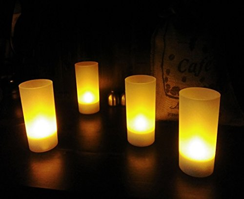 OROCKO LED Rechargeable Candles 12 Pack,Rechargeable Candle Tealights,Rechargeable Tea Lights,Flamless,Battery Operated,No Fire Risk,Safe for Home,Restaurants,Night Clubs,Spas and Hotels by OROCKO (Image #3)