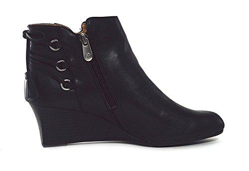 Boots Moltz Women's Black Adrienne Vittadini Wedge FXvqxzx1