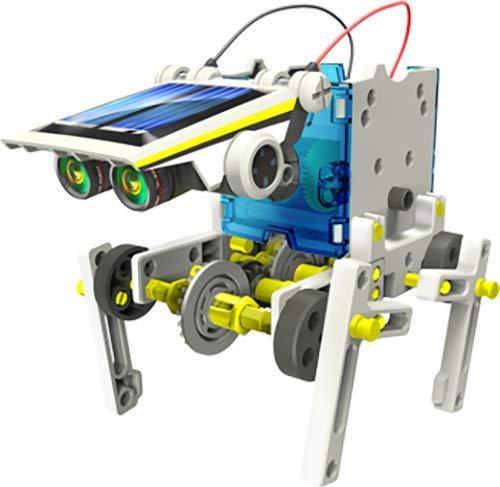 41kLApGFjSL - Elenco Teach Tech SolarBot.14, Transforming Solar Robot Kit, STEM Learning Toys for Kids 10+