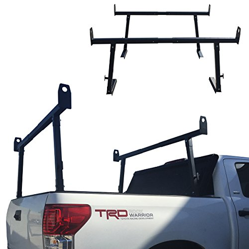 Apontus Universal Wide Design Truck Rack Lumber Ladder Steel Pick Up Cargo Contractor Kayak