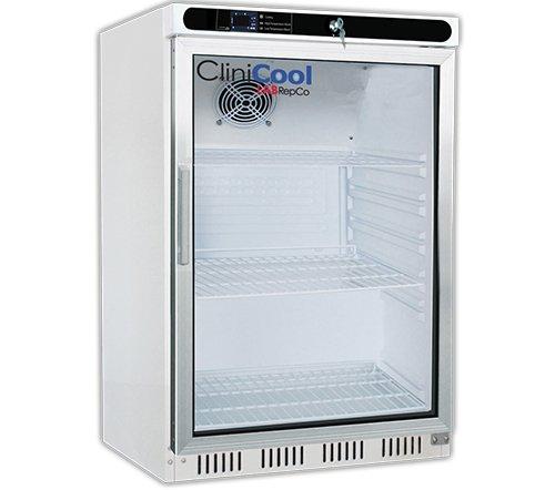 Silver Undercounter Refrigerator (CliniCool Silver Series PRIME 4. 6 Cu. Ft. Built-In Undercounter Glass Door Pharmacy/Vaccine Refrigerator)