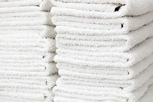 Atlas Package - Atlas Bulk Packed Economy Basic Washcloths (Pack of 24) 100% Cotton for bath, office, gym, salon, yoga, kitchen, motel 12 x12 Inch