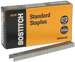 Stanley Bostitch Premium Standard Staples, 1/4 Inch Silver, 5,000 per box (SBS191/4CP)