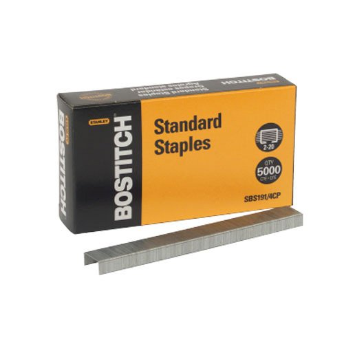"""Bostitch SBS1914CP Standard Staples, 1/4"""" Leg Length (Box of 5000) by Bostitch Office"""