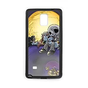Diy Customized Phone Case Nightmare Before Christmas Pattern for samsung galaxy note 4 Black