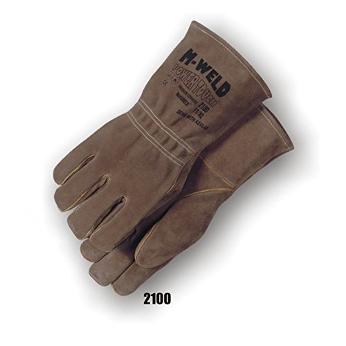 (12 Pair) Majestic WELDERS GLOVES WITH KEVLAR AND FIRE RETARDANT LINER - XTRA LARGE, BROWN(2100/11)
