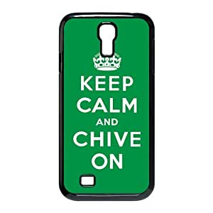 KCCO Chive On Samsung Galaxy S4 i9500 Case Keep Calm And Chive On White Green Cases Cover at abcabcbig store