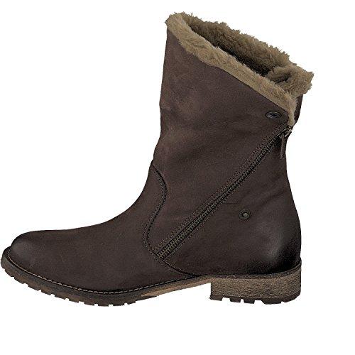 SPM, 60316221-003, Botas Mujer forrado Zapatos De Invierno dk. marrón Dk. Marrón