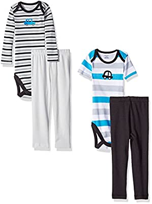 Gerber Baby Boys'' 4 Piece Bodysuit and Pant Set by Gerber Children's Apparel that we recomend personally.