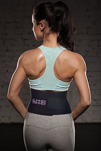 Slimmer Trimmer Premium Waist Trimmer - Weight Loss Sweat Belt Waist Trainer for Women & Men Adjustable Thermal Stomach Slimming Wrap. Belly Fat Burner, Abdominal and Lower Back Support by Slimmer Trimmer (Image #4)