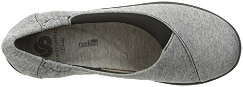 soporte cloudsteppers Jetay Heathered Fabric Grey de Clarks mujer Sillian wH466F