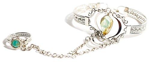 Exquisite Peruvian Alpaca Silver Slave Bracelet (Peruvian Opal) (Bracelet Slave)