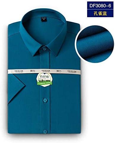 GFJKDO Camisa de Vestir de Fibra de bambú para Hombres Camisa Formal de Manga Larga Blanca de Corte Slim para Hombres: Amazon.es: Deportes y aire libre