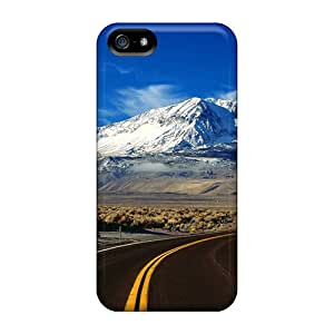 Iphone 5/5s Hard Back With Bumper Silicone Gel Tpu Case Cover Road
