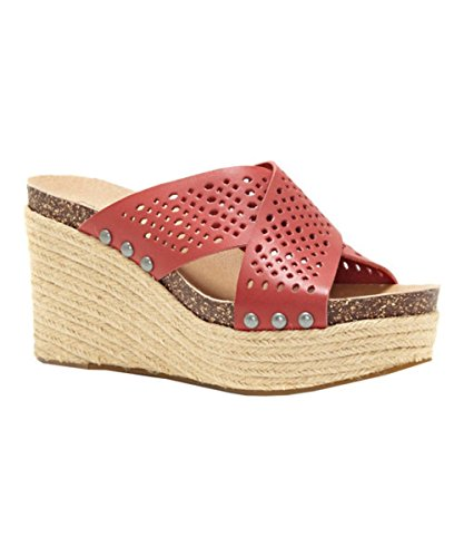 Womens Leather Rosewood Brand Open LK Sandals Casual Espadrille Toe NEEKA2 Lucky 5A6wfx