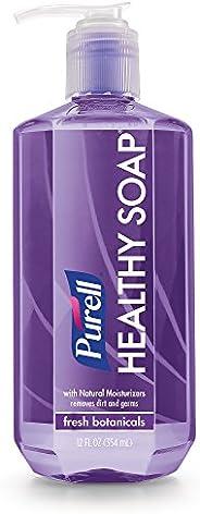 PURELL HEALTHY SOAP, Fresh Botanicals Fragrance, 12 fl oz Soap Counter Top Pump Bottles (Pack of 2) – 8103-06-