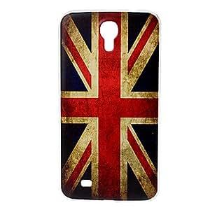 HC-Flag Modelo retro Reino Unido cubierta suave de plástico para Samsung Galaxy i9200 Mega