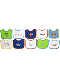Neat Solutions 10 Pack Water Resistant Drooler Bib Set,...