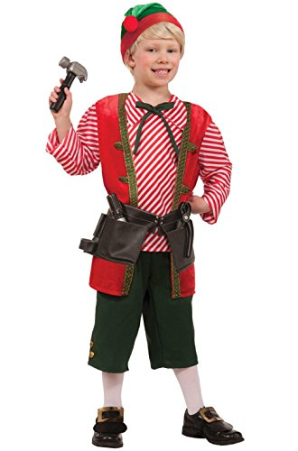 Wild Elf Costume (Christmas North Pole Toy Maker Elf Child Costume (L))