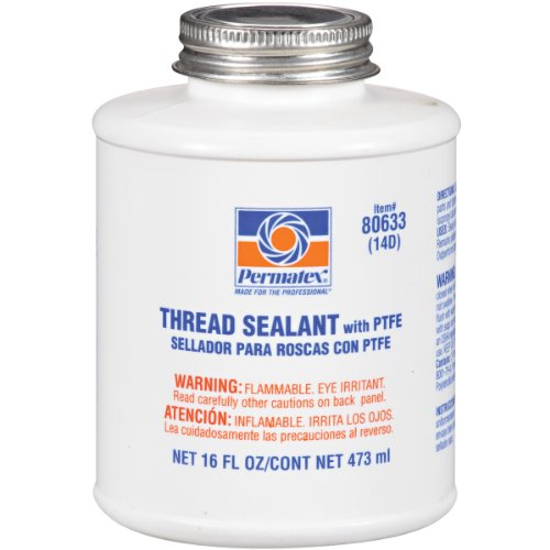 Permatex 80633-12PK Thread Sealant with PTFE, 16 oz. (Pack of 12) by Permatex