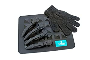 Cloud Nine Luxury Silicone Mat, Heat resistant glove & Mateque Hair Clips For Hair Straighteners & Tongs