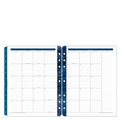 - Monarch Monticello Two Page Monthly Ring-Bound Tabs - Jul 2019 - Jun 2020