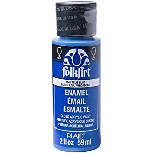 Folk Art Enamel Paint True Blue