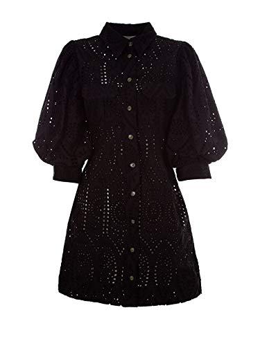 Ganni Women's F3204099 Black Viscose Dress from Ganni