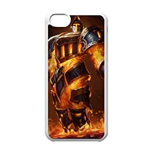 iPhone 5c Cell Phone Case White League of Legends Scorched Earth Xerath VB6972850
