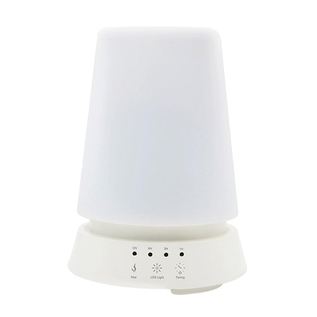 MagiDeal Wood Grain LED 350ML US Plug Aroma Diffuser Humidifier Aromatherapy Home - White