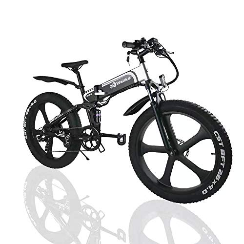 wallke 26 inch Fat Tire E-Bike 750W Mountain Snow Electric Bicycle 48V10.4ah Beach Cruiser Adult Auxiliary ebike Double Disc Hydraulic Brake System