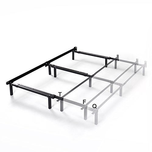 Zinus Michelle Compack Adjustable Steel Bed Frame for Box Spring and Mattress Set, Fits Twin to Queen sizes
