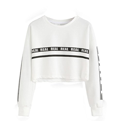 Women's Blouse, Orangeskycn New Style Letter Print Crop Women Sweatshirt Blouse