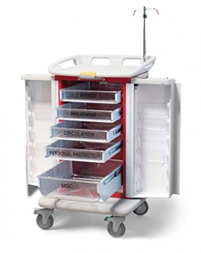 - MSEC by Waterloo, QUICK SHIP PROGRAM, Instant Access Emergency Cart, Blue