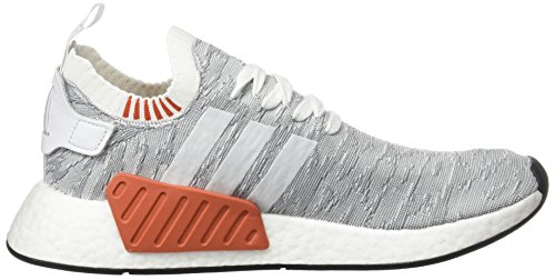 adidas Men's NMD_r2 Pk Trainers, Black White (Footwear White/Footwear White/Core Black 0)