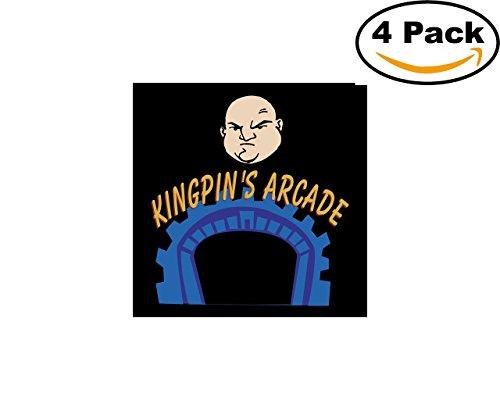 - Kingpins Arcade 4 Stickers 4X4 inches Car Bumper Window Sticker Decal
