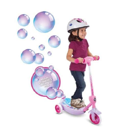 - Huffy Disney Princess Girls' 6V Electric 3-Wheel Bubble Scooter