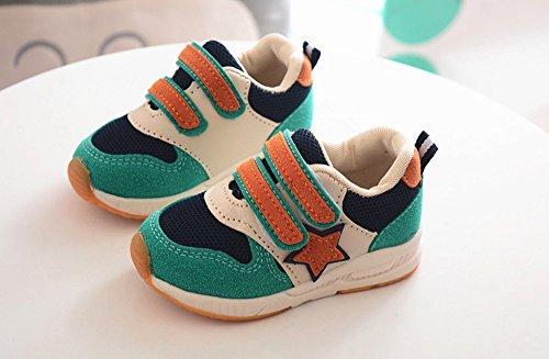 Zapatillas años Verde Niña Deportes Casual Bebe para de Zapatos 1 Primeros Niño Fossen Pasos 6 malla wEnZqagR8