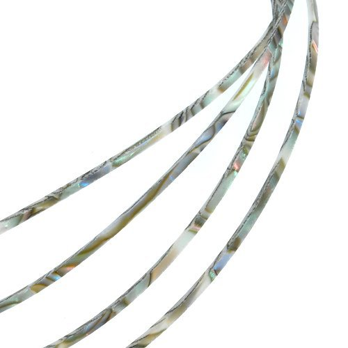 10pcs KG728 5 Feet Celluloid Guitar Binding Body Project Purfling Strip Abalone Pearl 1650 X 2 X 1.5mm