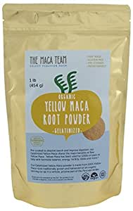 Gelatinized Maca Root Powder From Peru - Certified Organic, Fresh Wildcrafted Harvest, Fair Trade, Gmo-free, Vegan and Pre-cooked - 1 Lb. - 50 Servings
