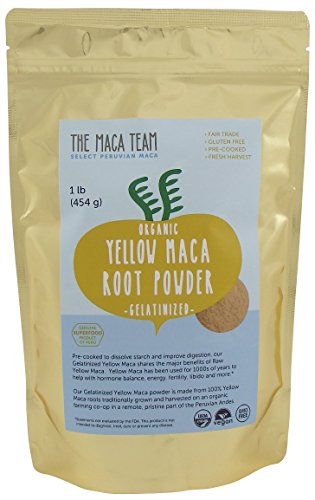 Gelatinized Maca Root Powder From Peru – Certified Organic, Fresh Wildcrafted Harvest, Fair Trade, Gmo-free, Vegan and Pre-cooked – 1 Lb. – 50 Servings