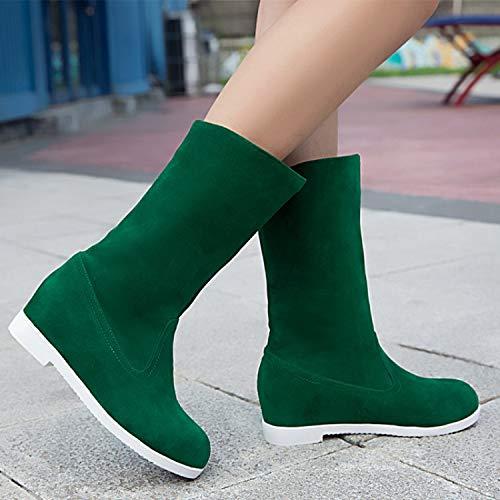 HRCxue Pumps Low-Heels erhöhen Studentenschuhe Martin Stiefel große Prinzessin Schuhe