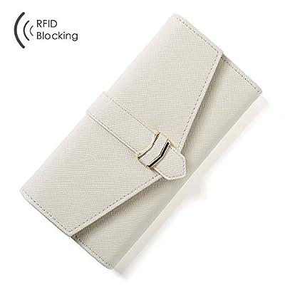 Aoliner Women RFID Blocking Multi Card Organizer Wallets for women Clutch