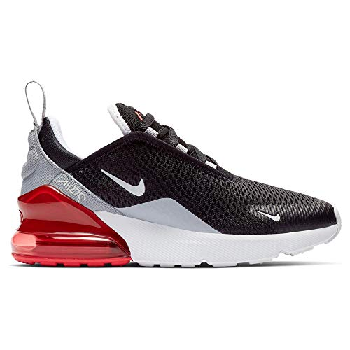 Nike Kids' Preschool Air Max 270 Shoes (13K, Black/Red) ()