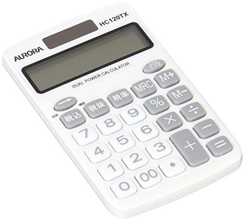 United Color Systems HC120TX-W Aurora Japan - Calculadora (12 dígitos), Color Blanco